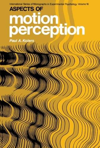 9781483171135: Aspects of Motion Perception: International Series of Monographs in Experimental Psychology: Volume 16