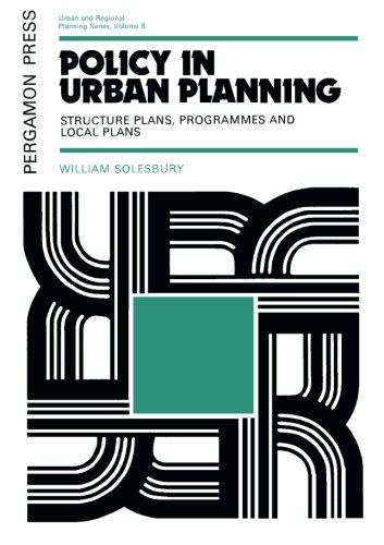 9781483171371: Policy in Urban Planning: Structure Plans, Programmes and Local Plans