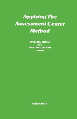 9781483171845: Applying the Assessment Center Method: Pergamon General Psychology Series
