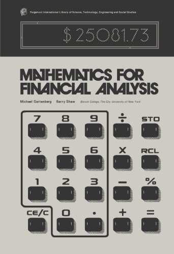 9781483233918: Mathematics for Financial Analysis