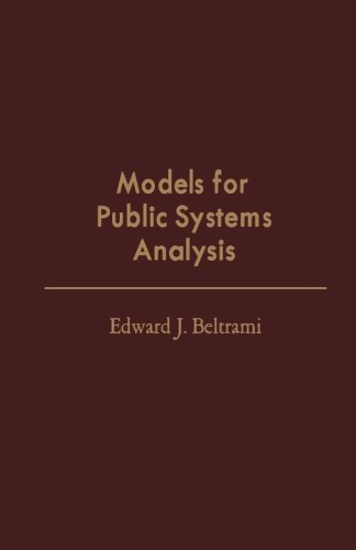 9781483236025: Models for Public Systems Analysis