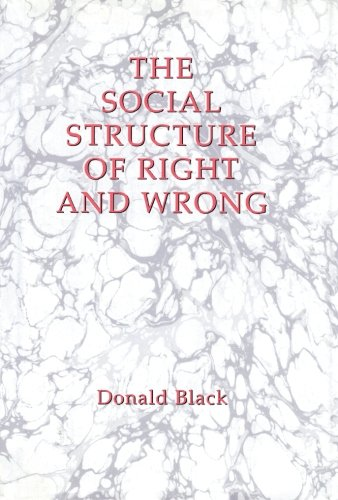 9781483236247: The Social Structure of Right and Wrong