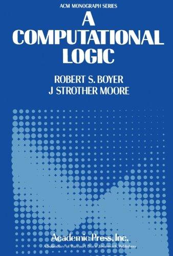9781483236520: A Computational Logic
