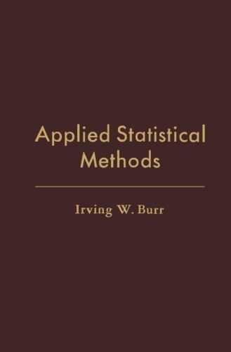 9781483236803: Applied Statistical Methods