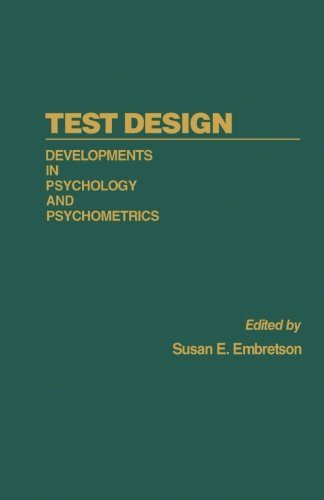 9781483238456: Test Design: Developments in Psychology and Psychometrics