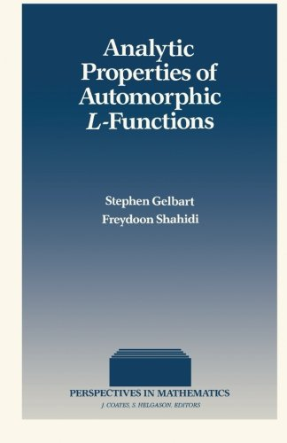 9781483239309: Analytic Properties of Automorphic L-Functions (Volume 6)