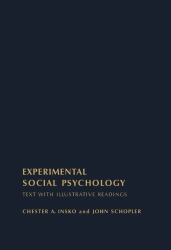 9781483241005: Experimental Social Psychology: Text with Illustrative Readings