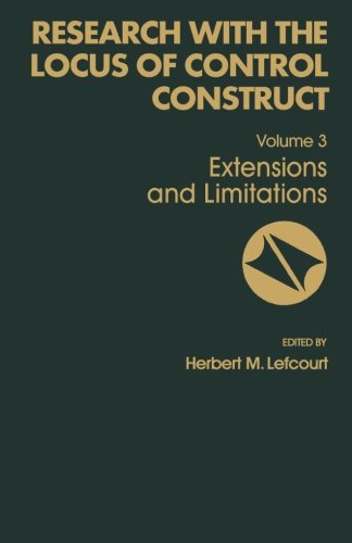 9781483242583: Research with the Locus of Control Construct: Extensions and Limitations (Volume 3)