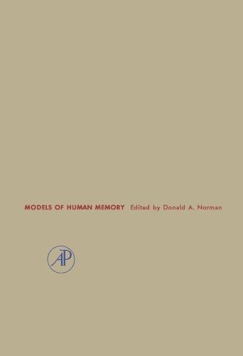 9781483244174: Models of Human Memory