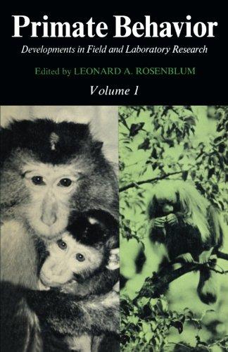 9781483244396: Primate Behavior: Developments in Field and Laboratory Research (Volume 1)