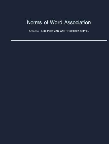 9781483244921: Norms of Word Association