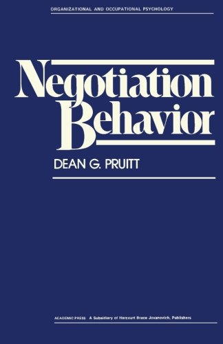 9781483244990: Negotiation Behavior