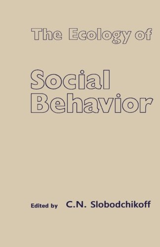9781483246666: The Ecology of Social Behavior