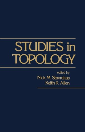 9781483246871: Studies in Topology