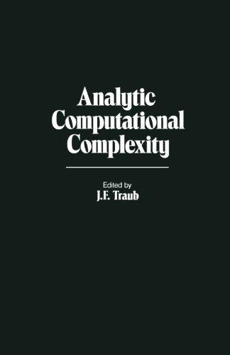 9781483247656: Analytic Computational Complexity