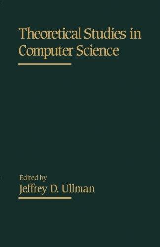 9781483247830: Theoretical Studies in Computer Science