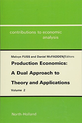 Production Economics: A Dual Approach to Theory