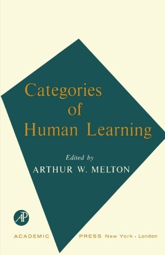 9781483254708: Categories of Human Learning