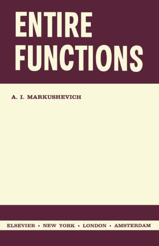 9781483255002: Entire Functions