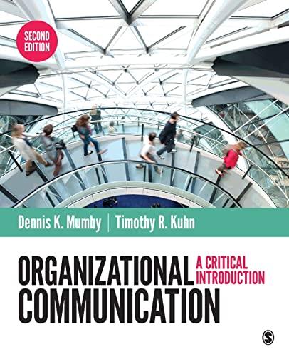 9781483317069: Organizational Communication: A Critical Introduction
