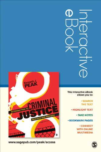 Introduction to Criminal Justice Interactive eBook: Peak, Kenneth J.