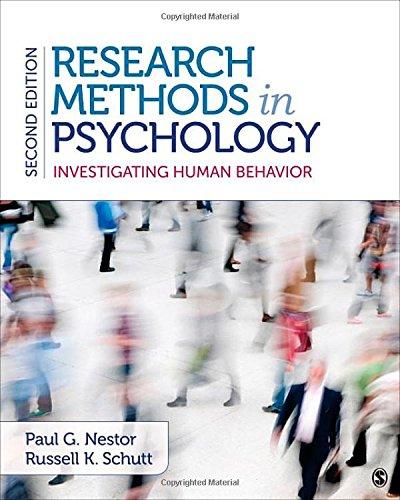 9781483343761: Research Methods in Psychology: Investigating Human Behavior