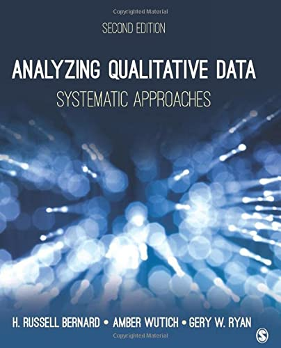 9781483344386: Analyzing Qualitative Data: Systematic Approaches