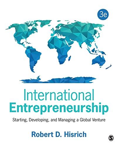 International Entrepreneurship (Paperback): Robert D. Hisrich