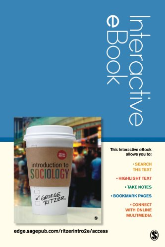 Introduction to Sociology Interactive eBook: George Ritzer