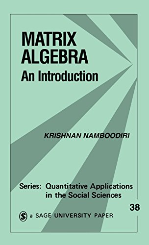9781483347295: Matrix Algebra: An Introduction