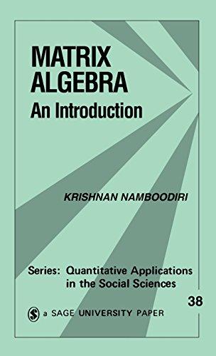 9781483347295: Matrix Algebra: An Introduction