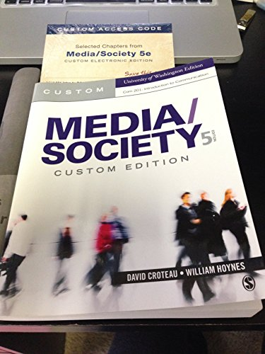 9781483352039: Media/Society Custom UW Edition