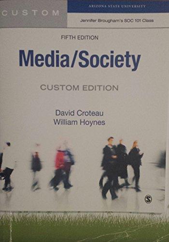 9781483374185: Media/Society (Custom Edition for Jennifer Brougham's SOC 101 Class, Arizona State University)