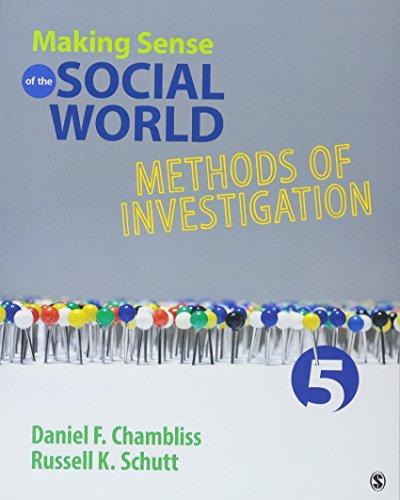9781483380612: Making Sense of the Social World: Methods of Investigation