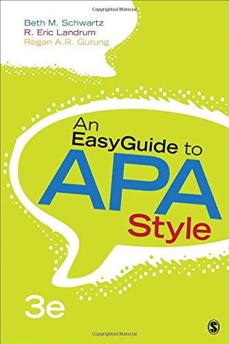 9781483383231: An EasyGuide to APA Style (EasyGuide Series)