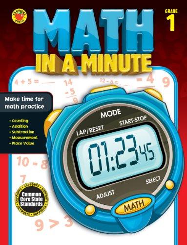 9781483801353: Math in a Minute, Grade 1