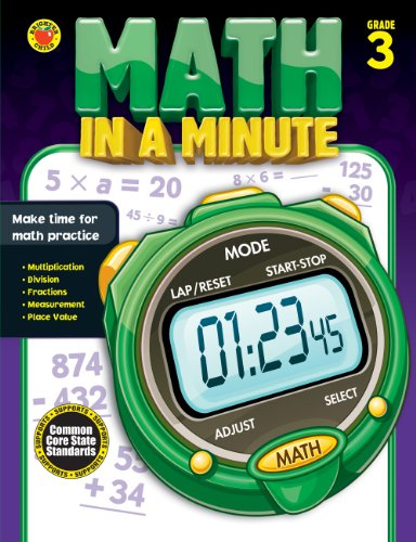 9781483801377: Math in a Minute, Grade 3