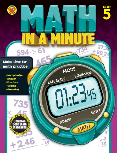 9781483801391: Math in a Minute, Grade 5