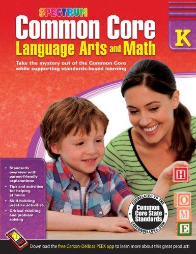 9781483804484: Common Core Language Arts and Math, Grade K (Spectrum)