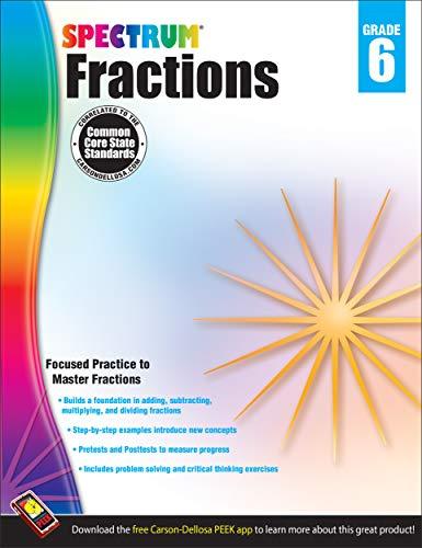 9781483804804: Fractions Workbook, Grade 6 (Spectrum)