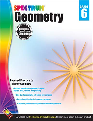 9781483804811: Geometry Workbook, Grade 6 (Spectrum)