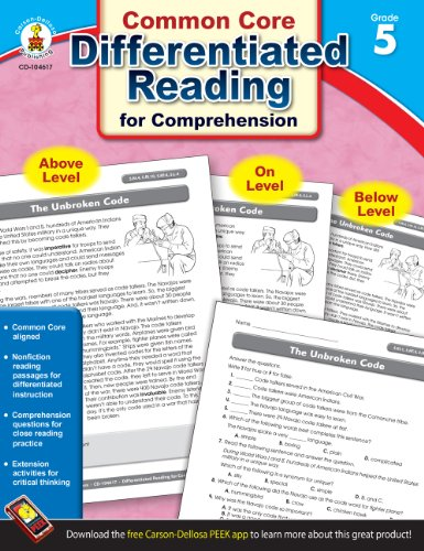 9781483804910: Differentiated Reading for Comprehension, Grade 5