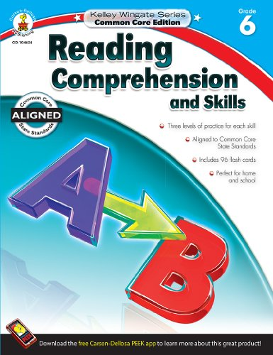 9781483804972: Reading Comprehension and Skills, Grade 6 (Kelley Wingate)