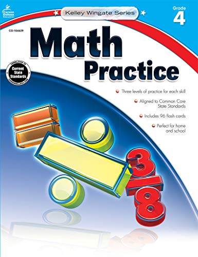 9781483805023: Math Practice, Grade 4 (Kelley Wingate)