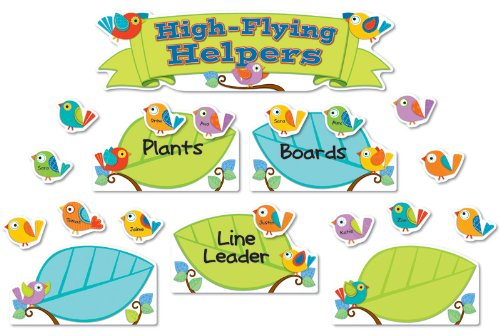 9781483810270: Boho Birds Job Assignment Mini Bulletin Board Set