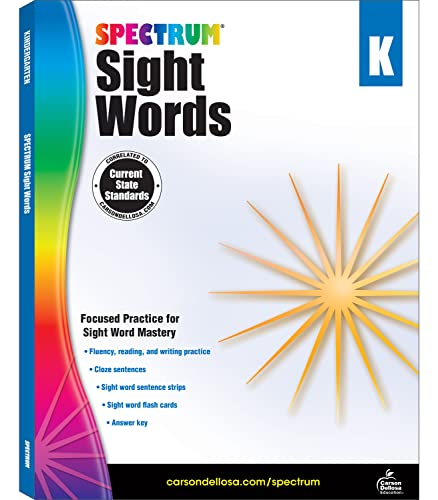 Spectrum Sight Words, Grade K