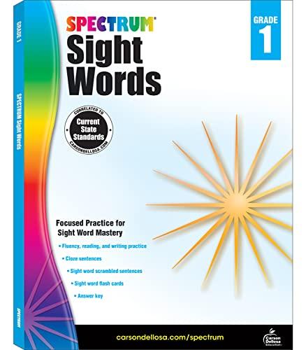 Spectrum Sight Words, Grade 1: Spectrum