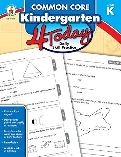 Common Core Kindergarten 4 Today: Daily Skill Practice (Common Core 4 Today)