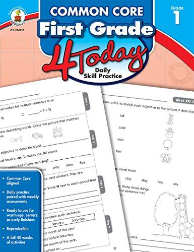 Common Core First Grade 4 Today: Daily Skill Practice (Common Core 4 Today): Carson-Dellosa ...