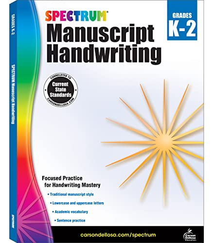 Spectrum Manuscript Handwriting, Grades K - 2